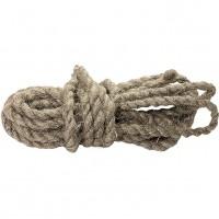Веревка льнопеньковая, D 10 мм, L 10 м, крученая, Россия. СИБРТЕХ