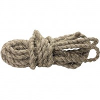 Веревка льнопеньковая, D 10 мм, L 6 м, крученая, Россия. СИБРТЕХ