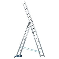 Лестница, 3 х 7 ступеней, алюминиевая, трехсекционная Pоссия