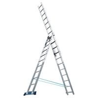 Лестница, 3 х 9 ступеней, алюминиевая, трехсекционная Pоссия