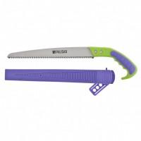Ножовка садовая, 300 мм, двухкомпонентная рукоятка, ножны, подвес для поясного ремня. PALISAD