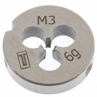 Плашка М3 х 0,5 мм. СИБРТЕХ