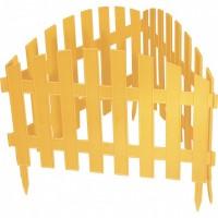 "Забор декоративный ""Винтаж"", 28 х 300 см, желтый. PALISAD. Россия"