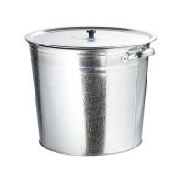 Бак для воды оцинкованный с крышкой (крышка с ручкой) 20 л, без крана. Россия