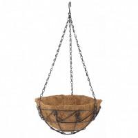 Подвесное кашпо с орнаментом, 25 см, с кокосовой корзиной. PALISAD