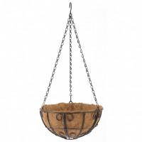 Подвесное кашпо с декором, 25 см, с кокосовой корзиной. PALISAD