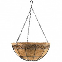 Подвесное кашпо с орнаментом, 30 см, с кокосовой корзиной. PALISAD