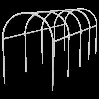Каркас парника пластиковый 500 х 110 х 120 см, дуга D 20 мм, белый. PALISAD