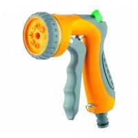 Пистолет-распылитель, 8 режимов полива, курок спереди, регулятор напора, эргономичная рукоятка. PALISAD LUXE