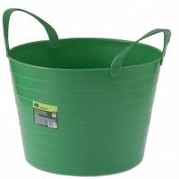 Ведро гибкое, сверхпрочное 14 л, зеленое. СИБРТЕХ
