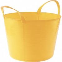 Ведро гибкое, сверхпрочное 14 л, желтое. СИБРТЕХ