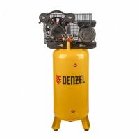 Компрессор DRV2200/100V, масляный ременный, с вертикальным ресивером, 10 бар, производительность 440 л/м, мощность 2,2 кВт Denzel