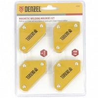Набор из 4 магнитных фиксаторов для сварочных работ. DENZEL