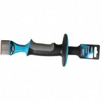 Зубило-конопатка, 215 х 44 мм, трехкомпонентная эргономичная рукоятка, защитный протектор, антикоррозионное покрытие. GROSS