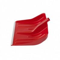 Лопата снеговая красная, 400 х 420 мм, без черенка, пластик, алюминиевая окантовка. Россия. Сибртех