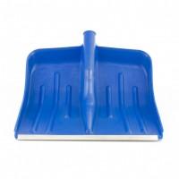 Лопата снеговая синяя, 400 х 420 мм, без черенка, пластик, алюминиевая окантовка. Россия. Сибртех