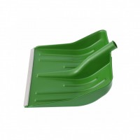 Лопата снеговая зеленая, 400 х 420 мм, без черенка, пластик, алюминиевая окантовка. Россия. Сибртех