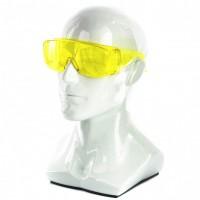 Очки защитные открытого типа, желтые, ударопрочный поликарбонат, Россия. СИБРТЕХ