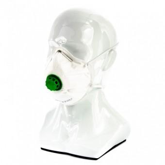 Полумаска фильтрующая (респиратор), формованная, с клапаном выдоха, FFP2, Россия. СИБРТЕХ