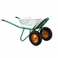 Тачка садово-строительная, 2-х колесная, усиленная, грузоподьемность 320 кг, обьем 100 л Palisad