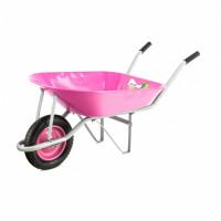 Тачка садовая, грузоподъемность 160 кг, объем 78 л Pink Line Palisad