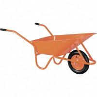 Тачка садово-строительная ТСО-02/01, крашенная , цельнолитое колесо, грузоподъемность 120 кг, объем 90 л. Россия