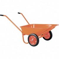 Тачка садово-строительная ТСО2-02-01, крашенная , цельнолитые колеса, грузоподъемность 120 кг, объем 90 л. Россия