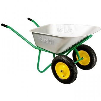 Тачка садово-строительная, двухколесная, усиленная, грузоподъемность 320 кг, объем 100 л. PALISAD