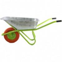 Тачка садово-строительная с полиуретановым колесом, грузоподъемность 180 кг, объем 90 л. СИБРТЕХ
