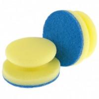 Губки для посуды c тефлоновым покрытием, круглые, D 95 х 50 мм, 2 шт, в картоне, Россия. Elfe