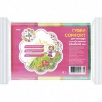 Губки для посуды профильные Comfort, 85 х 65 х 42 мм, 3 шт, Россия. Elfe