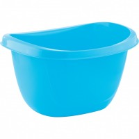 Таз пластмассовый овальный 16 л, голубой, Россия. Elfe