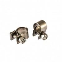 Хомуты металлические, MINI 9-11 мм, ширина 9 мм, винтовой, W4, 2 шт. Сибртех