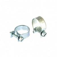 Хомуты металлические, MINI 18-20 мм, ширина 9 мм, винтовой, W1, 2 шт. Сибртех