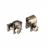 Хомуты металлические, MINI 8-10 мм, ширина 9 мм, винтовой, W4, 2 шт. Сибртех