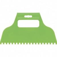 Шпатель для клея, пластмассовый, зубчатый 6 х 6 мм. СИБРТЕХ