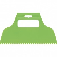 Шпатель для клея, пластмассовый, зубчатый 4 х 4 мм. СИБРТЕХ