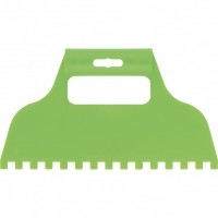 Шпатель для клея, пластмассовый, зубчатый 8 х8 мм. СИБРТЕХ